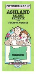 Ashland and Jackson County, Oregon by Pittmon Map Company