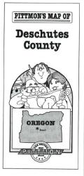 Deschutes County, Oregon by Pittmon Map Company