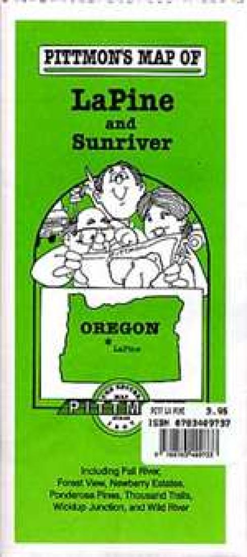 La Pine And Sunriver Oregon By Pittmon Map Company