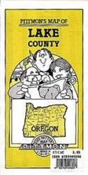 Lake County, Oregon by Pittmon Map Company