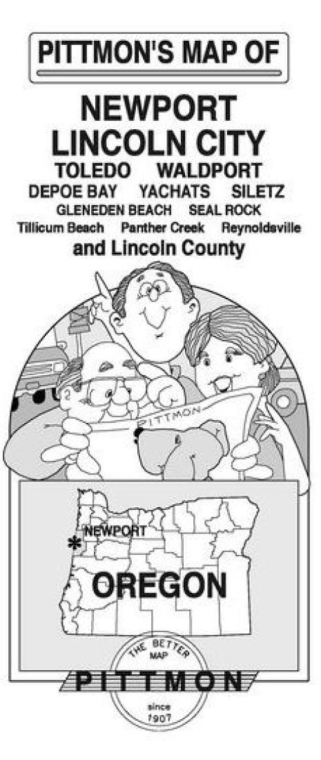 Newport Lincoln City And Lincoln County Oregon By Pittmon Map