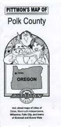 Polk County, Oregon by Pittmon Map Company