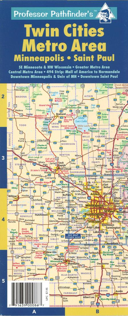 Twin Cities Minnesota Metro Area Laminated By Hedberg Maps