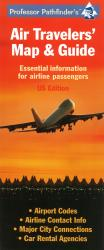 United States, Air Travelers' Map and Guide by Hedberg Maps