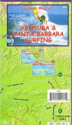 California Map, Santa Barbara and Ventura Surf, folded, 2007 by Frankos Maps Ltd.