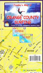 California Map, Orange County Surf, folded, 2007 by Frankos Maps Ltd.