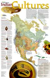 North American Indian Cultures, Wall Map by National Geographic Maps