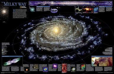 The Milky Way, Tubed by National Geographic Maps