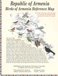 Birds of Armenia Reference Map by American University of Armenia