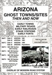 Arizona, Ghost Towns, 6-Map Set, Then and Now by Northwest Distributors