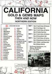 California, North, Gold and Gems, 5 Map Set, Then and Now by Northwest Distributors