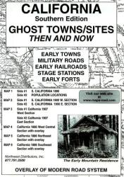 California, South, Ghost Towns, 6-Map Set, Then and Now by Northwest Distributors