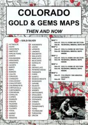 Colorado, Gold and Gems, 5-Map Set, Then and Now by Northwest Distributors
