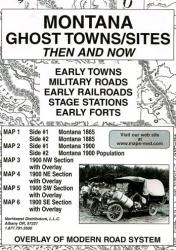 Montana, Ghost Towns, 5-Map Set, Then and Now by Northwest Distributors