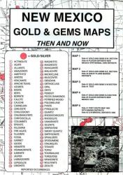 New Mexico, Gold and Gems, 6-Map Set, Then and Now by Northwest Distributors