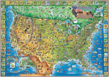 Dino's Illustrated Map of the USA by Dino Maps