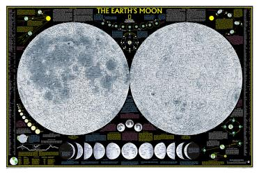 Earth's Moon Wall Map - Laminated (42.5 x 28.5 inches) by National Geographic Maps