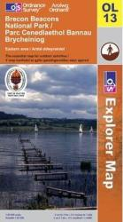 Brecon Beacons National Park, Eastern, United Kingdom, Explorer Map 13 by Ordnance Survey