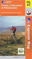 Forest of Bowland and Ribblesdale, United Kingdom, Explorer Map 41 by Ordnance Survey