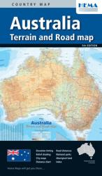 Australia Terrain and Road Map by Hema Maps