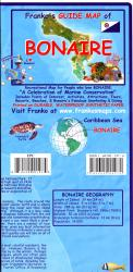Caribbean Map, Bonaire Guide and Dive, folded, 2008 by Frankos Maps Ltd.