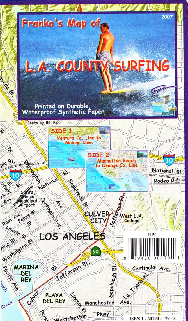 California Map L A County Surf Folded 2007 By Frankos Maps Ltd