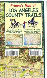 California Map, L.A. County Bikeways and Trails, folded, 2011 by Frankos Maps Ltd.