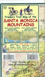 California Map, Santa Monica Mtns Trails, folded, 2007 by Frankos Maps Ltd.