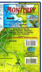 California Map, Monterey Bay Guide and Dive, folded, 2011 by Frankos Maps Ltd.