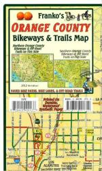 California Map, Orange County Bikeways and Trails, folded by Frankos Maps Ltd.