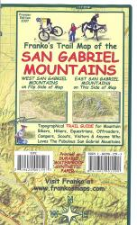 California Map, San Gabriel Mountains, folded, 2007 by Frankos Maps Ltd.