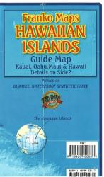 Hawaii Map, Hawaiian Islands Guide, folded, 2009 by Frankos Maps Ltd.