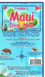 Maui, Hawaii, Diving, Surfing , Hiking and Tourist Folded Map by Frankos Maps Ltd.