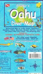 Oahu, Hawaii, Diving/Hiking/ Biking/Tourist by Frankos Maps Ltd.
