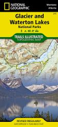 Glacier and Waterton Lakes National Parks, Map 215 by National Geographic Maps