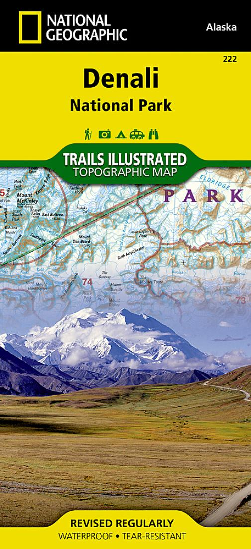 Denali National Park Map 222 By National Geographic Maps
