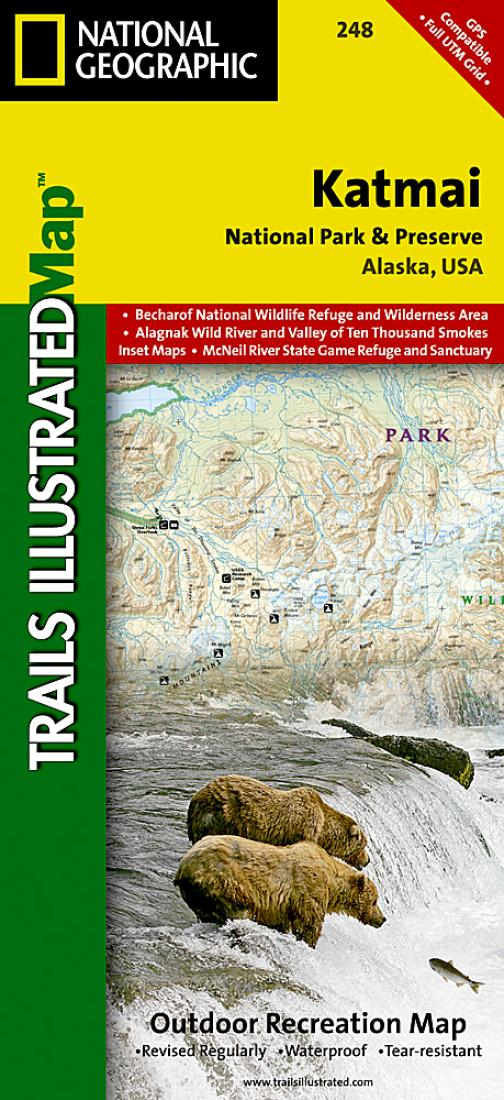 Katmai National Park and Preserve Map 248 by National Geographic Maps