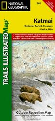 Katmai National Park and Preserve, Map 248 by National Geographic Maps