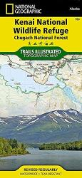 Kenai National Wildlife Refuge and Chugach National Forest, Map 760 by National Geographic Maps