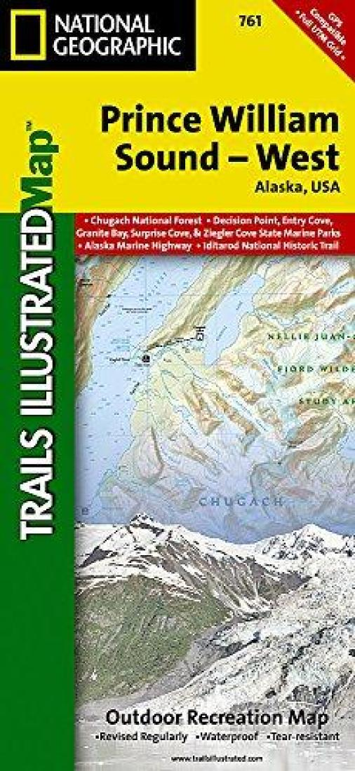 Prince William Sound West Alaska Map 761 By National Geographic