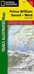 Prince William Sound, West, Alaska, Map 761 by National Geographic Maps