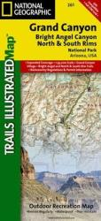 Grand Canyon, Bright Angel Canyon, North & South Rims, Map 261 by National Geographic Maps
