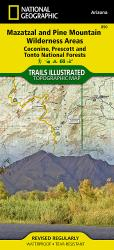 Mazatzal and Pine Mountain Wilderness Areas, Map 850 by National Geographic Maps