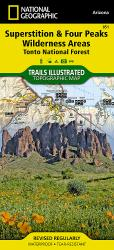Superstition and Four Peaks Wilderness Areas, Map 851 by National Geographic Maps