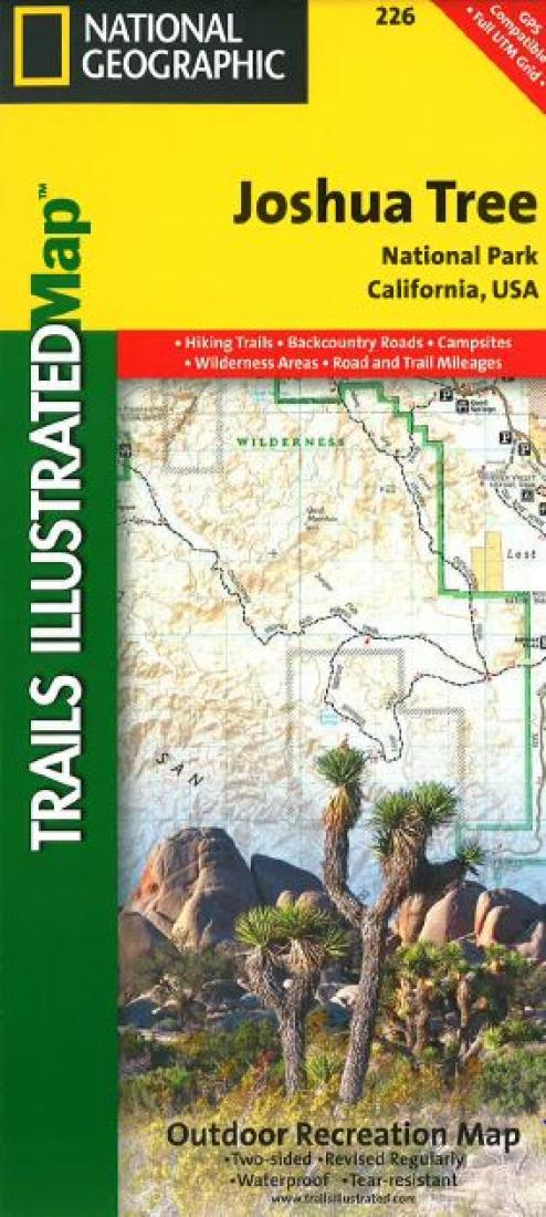 Joshua Tree National Park, Map 226 by National Geographic Maps