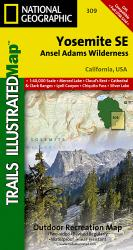 Yosemite Southeast, Ansel Adams Wilderness, Map 309 by National Geographic Maps