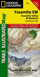 Yosemite Southwest, Yosemite Valley and Wawona, Map 306 by National Geographic Maps