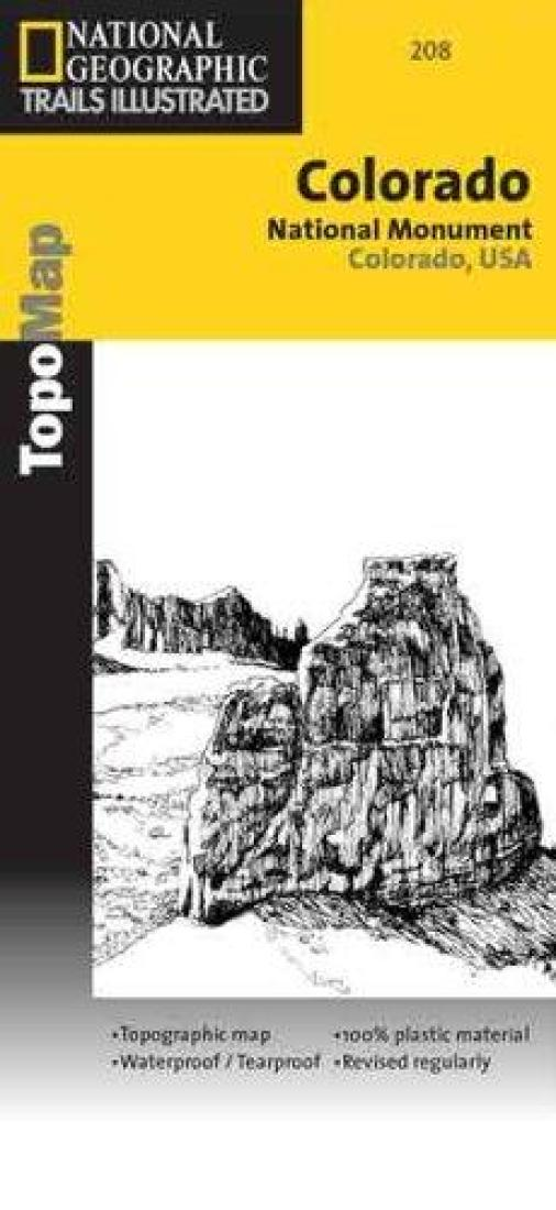 Colorado National Monument, Colorado, Map 208 by National Geographic ...
