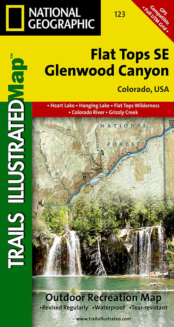 Se Colorado Map.Flat Tops Southeast And Glenwood Canyon Colorado Map 123 By