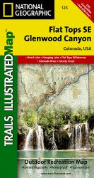 Flat Tops Southeast and Glenwood Canyon, Colorado, Map 123 by National Geographic Maps